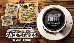 Rogers Family Company National Coffee Month Sweepstakes