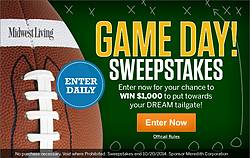 Midwest Living Game Day 2014 Sweepstakes