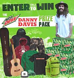 Havoc Television MTN DEW Danny Davis Prize Pack Giveaway Sweepstakes