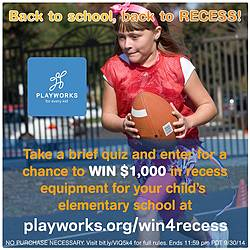Playworks Back to School Back to Recess Giveaway