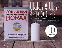 Watch and Win With Borax Sweepstakes