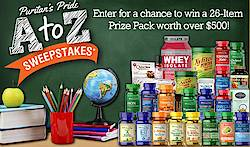 Puritan's Pride A to Z Sweepstakes