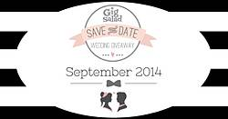 Gig Salad Save the Date September Wedding Giveaway