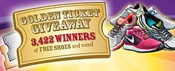 Road Runner Sports Golden Ticket Sweepstakes and Instant Win