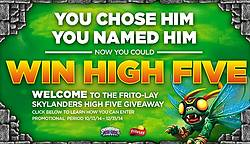 Frito-Lay Skylanders High Five Instant-Win Game