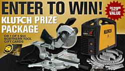 Northern Tool Klutch Prize Pack Giveaway