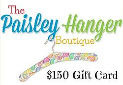 Finding Sanity in Our Crazy Life: $150 Paisley Hanger Boutique Gift Card Giveaway