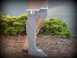 Review Wire: Gray Lacee-Lou Vintage Style Boot Socks Giveaway