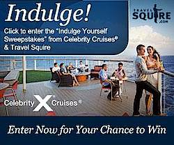 Travel Squire Celebrity Cruises Indulge Yourself Sweepstakes