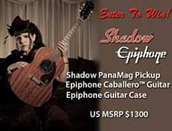 Shadow Epiphone Caballero Guitar Sweepstakes