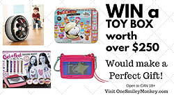 One Smiley Monkey: Win a Toy Box Worth Over $250