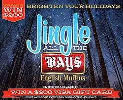 Bays English Muffins Jingle All the Bays Sweepstakes