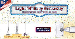 Light 'N' Easy8 Electric Steam Mop Giveaway