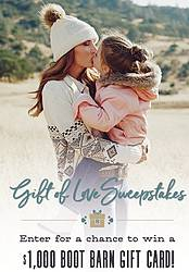 Boot Barn Gift of Love Sweepstakes