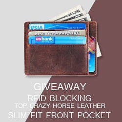 Kinzd Crazy Horse Leather Front Pocket Wallet Giveaway