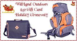 Pausitive Living: WillLand Outdoors $50 Gift Card Holiday Giveaway