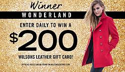 Wilsons Leather Winter Wonderland Gift Card Giveaway