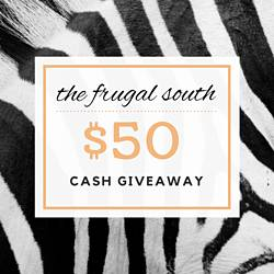 Thefrugalsouth: $50 Cash Giveaway