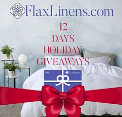 Flax Linens 12 Days of Giveaways