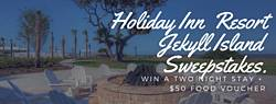 Holiday Inn Resort at Jekyll Island 2 Free Nights and $50 Food Voucher to the Beach Giveaway