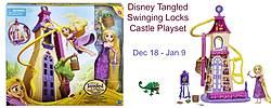 Pausitive Living: Disney Tangled Swinging Locks Castle Playset