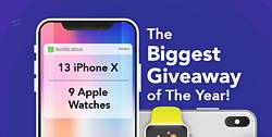 PureVPN iPhone X and Apple Watches Giveaway