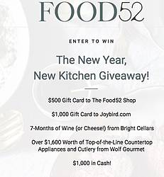 Food52 New Year New Kitchen Sweepstakes
