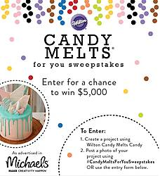 Wilton Candy Melts for You Sweepstakes