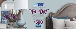 HGTV & Sherwin-Williams Live for Ta-Da Sweepstakes