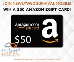 Newlywed Survival: $50 Amazon Gift Card Giveaway