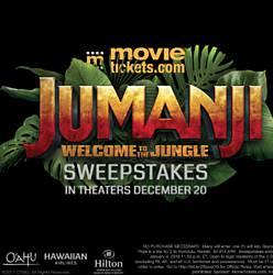 MovieTickets Jumanji: Welcome to the Jungle Sweepstakes