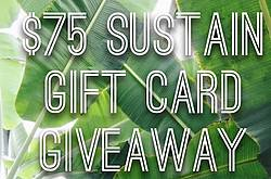 Green Chic Life: $75 Sustain Gift Card Giveaway
