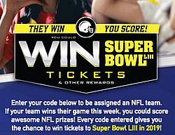 Doritos They Win You Score Super Bowl Tickets Sweepstakes