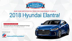 National CPR Foundation 2018 Hyundai Elantra Giveaway