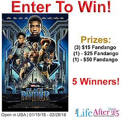 Your Life After 25: $50 Fandango Gift Card Giveaway