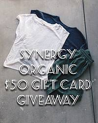 Green Chic Life: $50 Synergy Organic Gift Card Giveaway