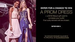 Macy's Win a Free Prom Dress Sweepstakes