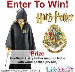 Your Life After 25: Win an Unofficial Harry Potter Inspired Replica Robe