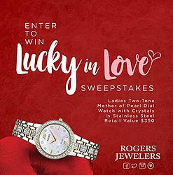 Lucky in Love Sweepstakes to Win a SEIKO Watch Giveaway