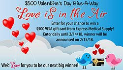 Express Medical Supply $500 Valentine's Day Giveaway