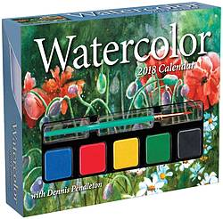 Handmade by Deb: Watercolor 2018 Day-to-Day Calendar Giveaway