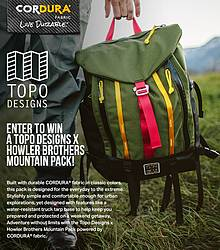Cordura Brand Fabric Howler Brothers Mountain Pack Giveaway