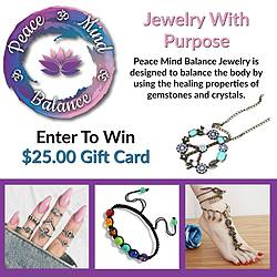 $25 Gift Card to Peace Mind Balance Giveaway
