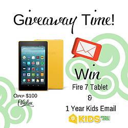 Kidsemail: Kindle Fire 7 Tablet and 1 Year of Kids Email Giveaway