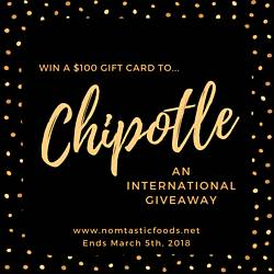 Nomtasticfoods: $100 Gift Card to Chipotle Giveaway