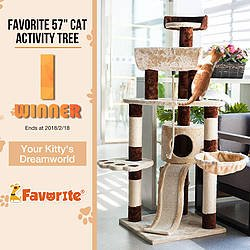 "57"" Cat Activity Tree My Favorite Pet Shop Giveaway"