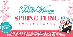 The Pioneer Woman Magazine Spring Sweepstakes