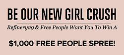 Refinery29 + Free People Sweepstakes