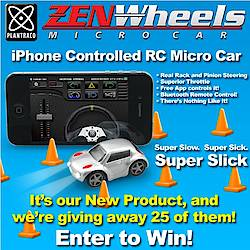 ZenWheels iPhone Controlled Micro Car Giveaway