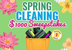 Cash 4 Toners Spring Cleaning Sweepstakes